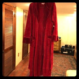 Other - NWOT Red velour robe